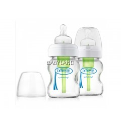 Dr. Brown's Options Glass Bottle Wide-Neck (2x150ml)