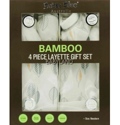 Bubba Blue Bamboo Leaf 4 Piece Layette Gift Set