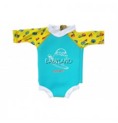 Cheekaaboo Summer Paradise Snugbabes Suit Light Blue/Camper Van 6-12M (S)