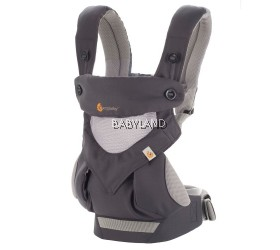 ErgoBaby 360 4-Position Baby Carrier Cool Air Mesh - CARBON GREY