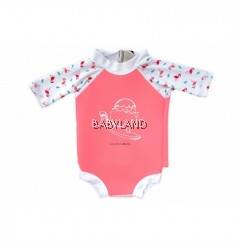 Cheekaaboo Summer Paradise Snugbabes Suit - Salmon Pink/Flamingo 6-12M (S)