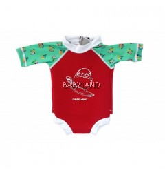Cheekaaboo Summer Paradise Snugbabes Suit Red/Toucan 6-12M (S)