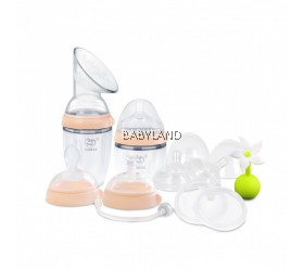 Haakaa Premium Silicone Pump and Bottle Pack (Nude)