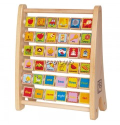 Hape Alphabet Abacus Wooden Counting Toy (3Y+)