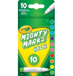 Crayola Mighty Marks Neon Markers