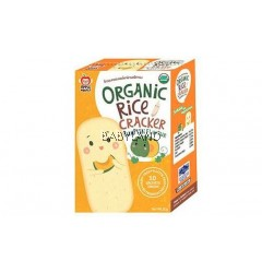 Apple Monkey Organic Rice Cracker Pumpkin - 10 sachets (30g)